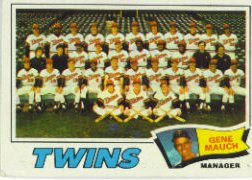 1977 Topps Baseball Cards      228     Minnesota Twins CL/Mauch